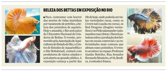 ENABETTAS 2011 - Matéria sobre o evento publicada no Jornal O Dia