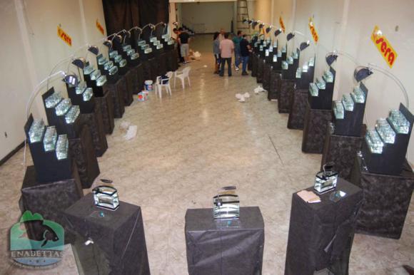 Vista do salão de exposição do ENABETTAS 2011